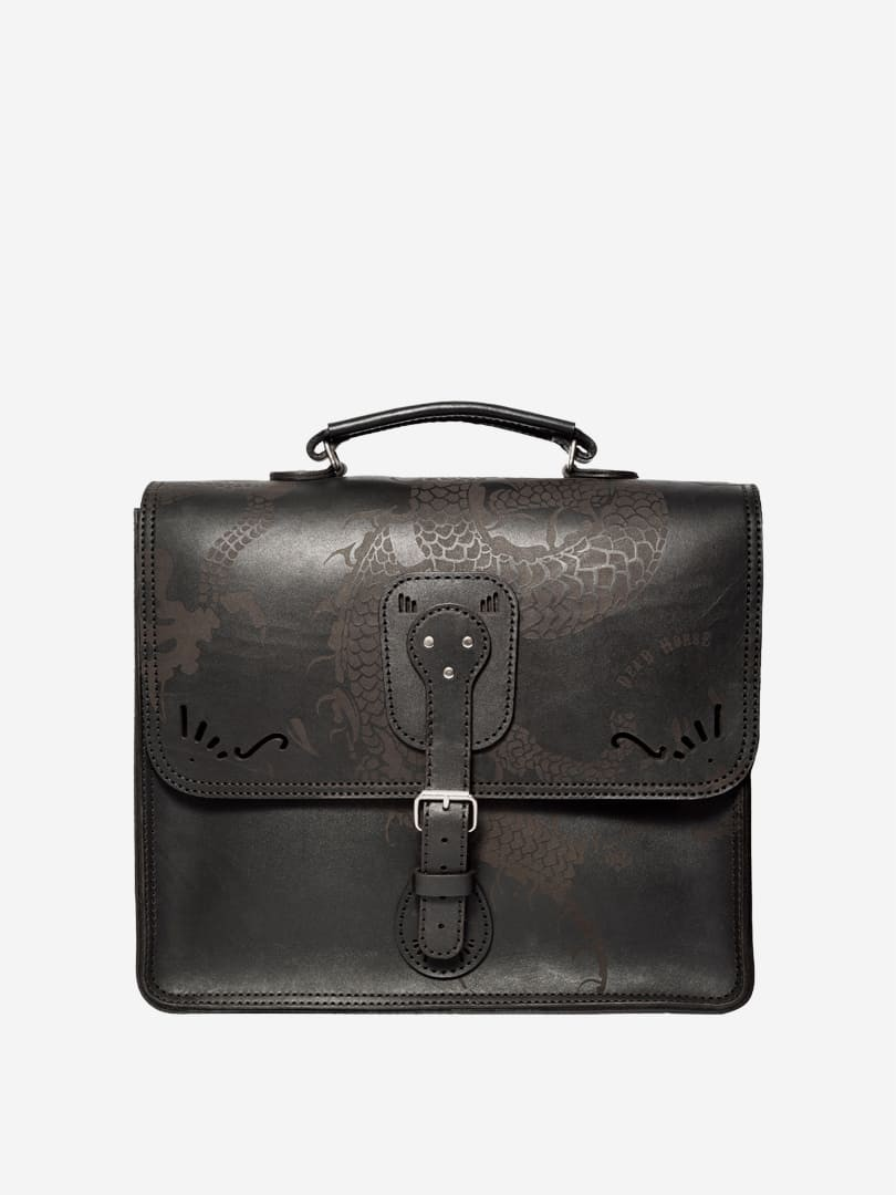 Iggy dragon black briefcase