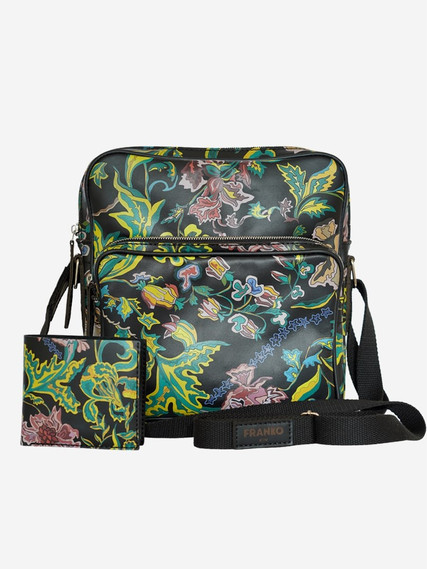 Flowers-pattern-black-Messanger-bag-05