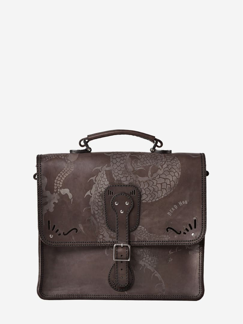 Iggy dragon brown briefcase