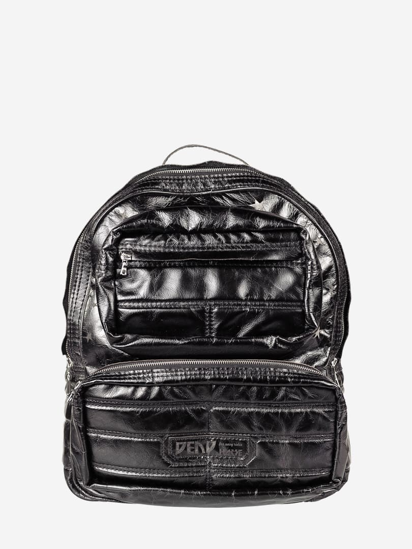 Nick black backpack in natural leather | franko.ua