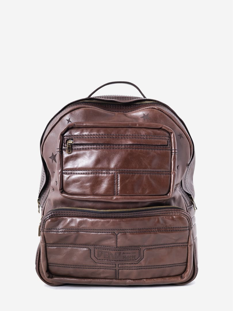 Nick brown backpack in natural leather | franko.ua