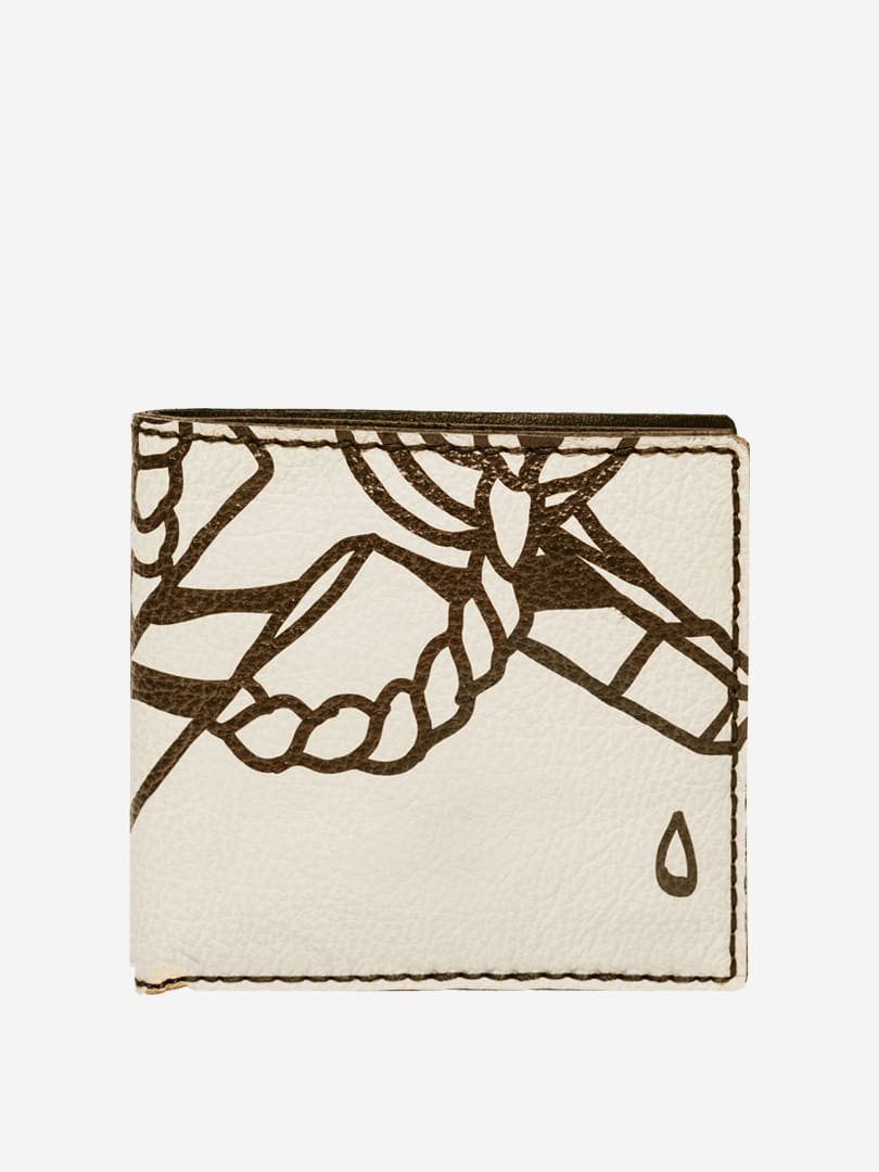 Tom tattoo white wallet in natural cow leather | franko.ua