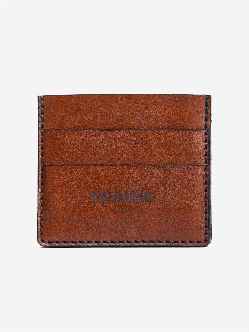 Franko brown Small cardholder in natural leather | franko.ua