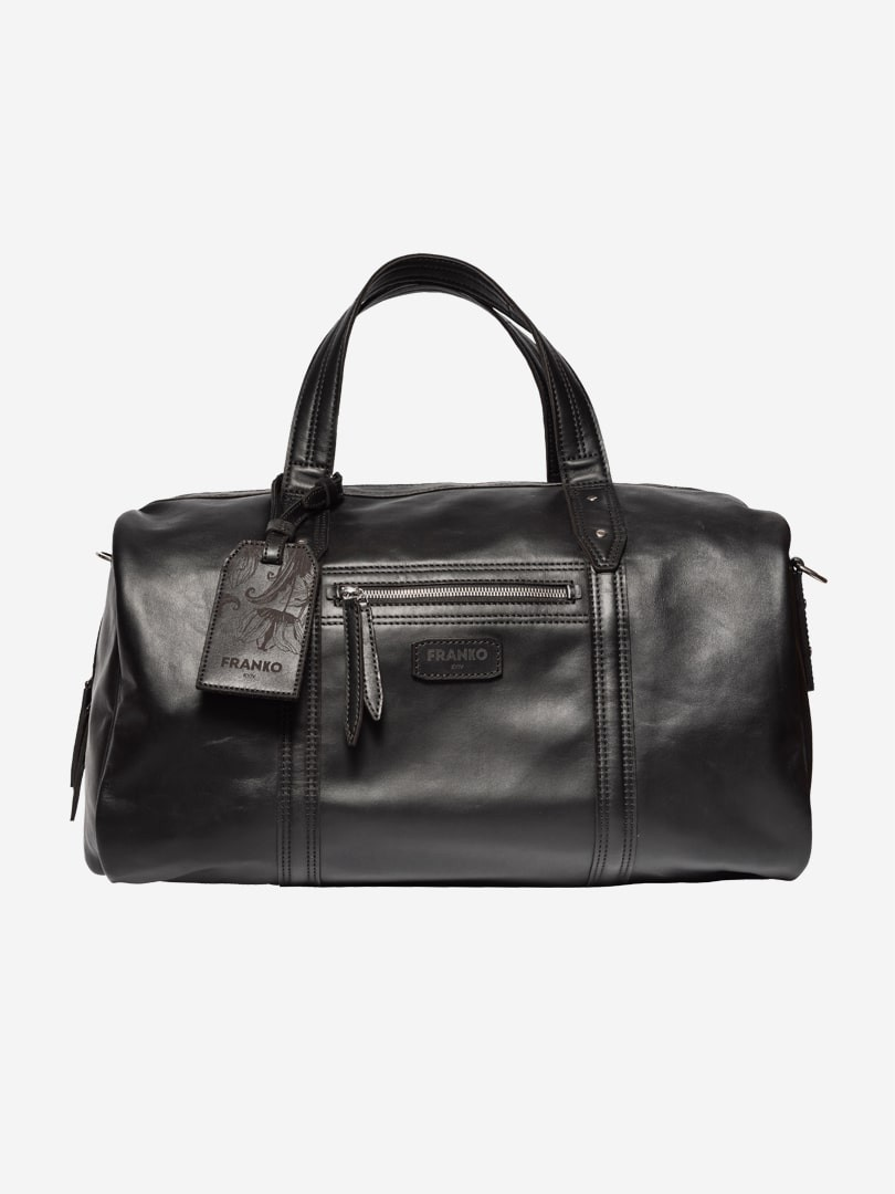 Franko black Road bag in natural leather | franko.ua