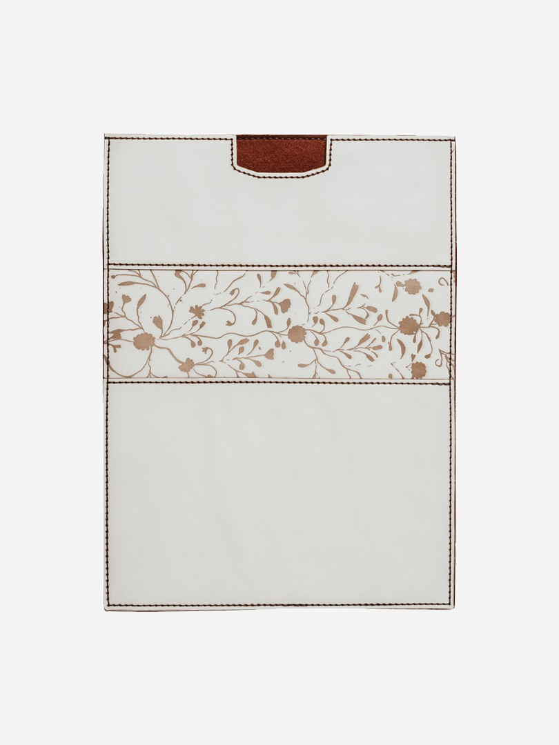 Flowers vertical white Case for MacBook Air in natural leather | franko.ua
